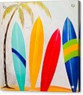 Surfboards II Acrylic Print
