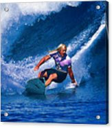 Surfer Dude Catching A Wave Acrylic Print