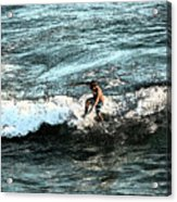 Surfer On Wave Acrylic Print
