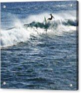 Surfer Riding A Wave Acrylic Print by Brandon Tabiolo - Printscapes