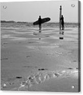 Surfer Silhouettes Acrylic Print