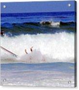 Surfers At Asilomar State Beach Three Oopsy Daisy Acrylic Print