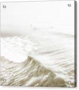 Surfers In Ocean Mist Acrylic Print