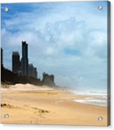 Surfers Paradise On A Stormy Day Acrylic Print