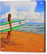 Surfing 19518 Acrylic Print