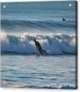 Surfing At Hampton Nh Acrylic Print