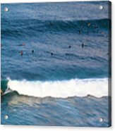 Surfing At Honolua Bay Acrylic Print