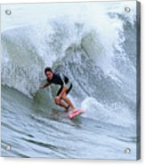 Surfing Bogue Banks 3 Acrylic Print