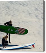 Surfing Couple Acrylic Print