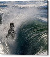 Surfing Into The Sun Acrylic Print