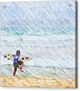 Surfer In Aus Acrylic Print
