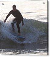 Surfing Narragansett Acrylic Print