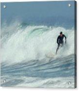 Surfing On The Oregon Coast Acrylic Print