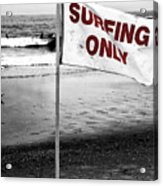 Surfing Only Fusion Acrylic Print