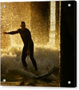 Surfing The Dawn Acrylic Print