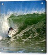 Surfing The Winter Atlantic Acrylic Print