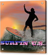 Surfing U.s.a. Acrylic Print