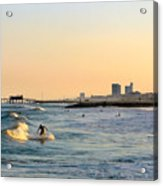 Surf's Up Acrylic Print by Arthur Herold Jr
