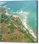 Surf's Up on Oahu Beach Acrylic Print