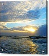 St. Augustine Beach Sunrise Surf Acrylic Print