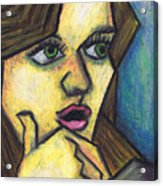 Surprised Girl Acrylic Print by Kamil Swiatek
