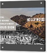 Surprising Facts Of Hollywood Sign Acrylic Print