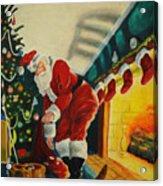 Surprising Santa Acrylic Print