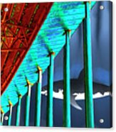 Surreal Bridge Shark Cage Acrylic Print