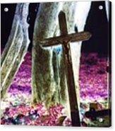 Surreal Crucifixion Acrylic Print by Karin Kohlmeier