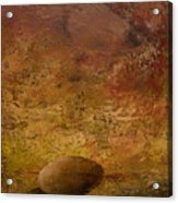 Surreal Egg On An Abstract Canvas Acrylic Print