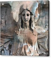 Surreal Fantasy Dreamy Angel Art Wings Acrylic Print by Kathy Fornal