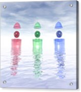 Surreal Glass Structures Acrylic Print