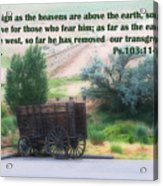 Surreal Old Wagon Ps.103 V 11-12 Acrylic Print by Linda Phelps