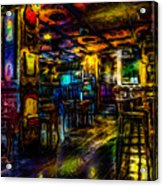 Surreal Old West Bar  Acrylic Print