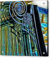 Surreal Reflection And Wrought Iron Acrylic Print