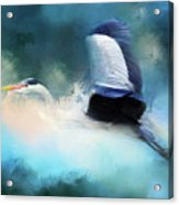 Surreal Stork In A Storm Acrylic Print