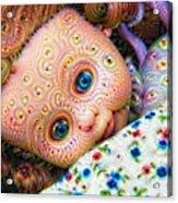 Surreal Trippy Deep Dream Doll Acrylic Print
