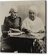 Susan B. Anthony And Elizabeth Cady Acrylic Print