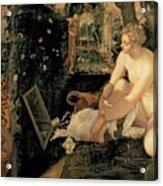 Susanna Bathing Acrylic Print