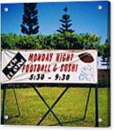 Sushi And Football In Hawaii Acrylic Print