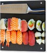 Sushi And Knife Acrylic Print