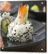 Sushi In Restaurant Acrylic Print