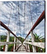 Suspended Bridge Acrylic Print