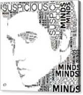 Suspicious Minds Elvis Wordart Acrylic Print