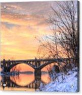 Susquehanna Sunrise Acrylic Print by JC Findley