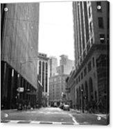 Sutter Street - San Francisco Street View Black And White  Acrylic Print