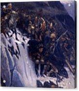 Suvorov Crossing The Alps In 1799 Acrylic Print