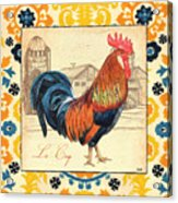 Suzani Rooster 2 Acrylic Print