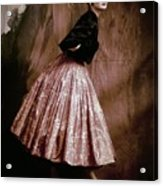 Suzy Parker In Givenchy Full Skirt Acrylic Print