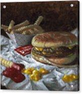 Suzy-q Double Cheeseburger Acrylic Print by Timothy Jones